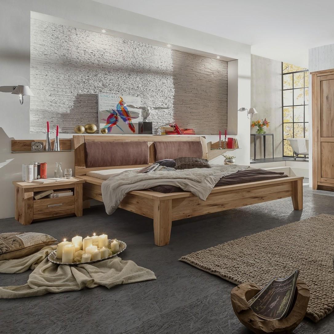 TORONTO Doppelbett Asteiche teilmassiv geölt | Schlafzimmer > Betten > Doppelbetten | Asteiche - Massiver - Spanplatte - Holzfurnier - Eiche | Empinio24