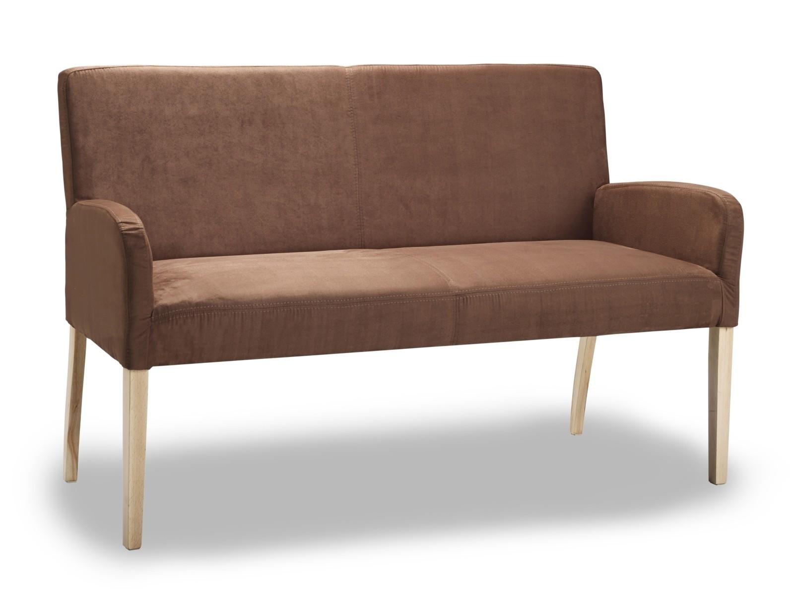 ALFO Polsterbank Sitzbank 123 cm Microfaser Beine aus Buche oder Eiche