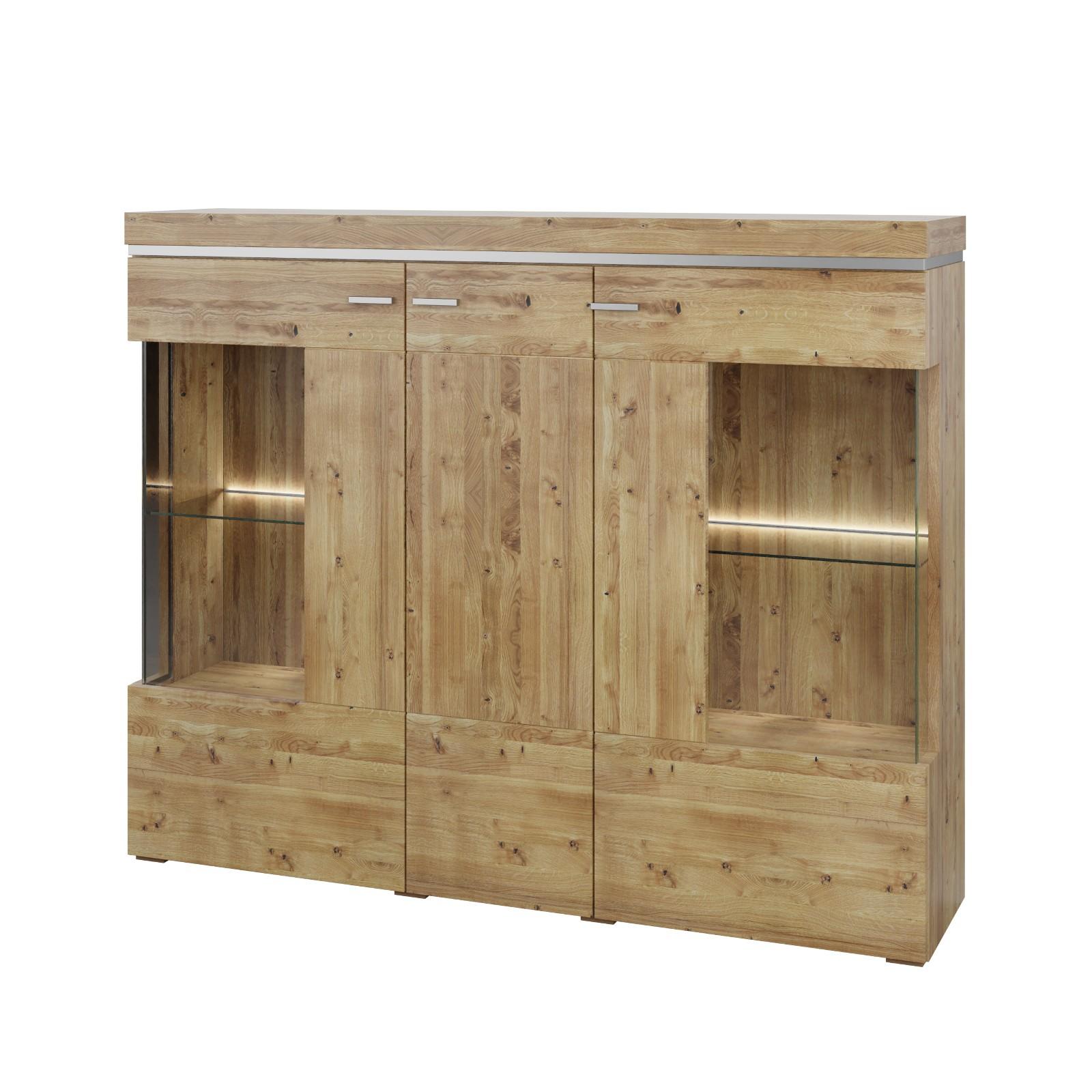 Andere Highboard BASEL  Farbe Natur Asteiche, Eiche, Wildeiche Massivholz / Teilmassiv Breite 148,6 cm