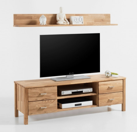 lyon tv lowboard wandboard set eiche wildeiche massiv ge lt kaufen m bel shop empinio24. Black Bedroom Furniture Sets. Home Design Ideas