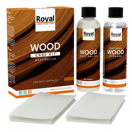 ROYAL Holzpflege Wood Care Kit Matt Polish + Clean 2x250ml (matt)