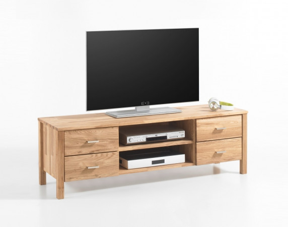 lyon tv lowboard eiche massiv ge lt kaufen m bel shop empinio24. Black Bedroom Furniture Sets. Home Design Ideas