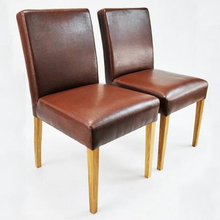 Esszimmerstuhl aus Kunstleder Beine aus Buche oder Eiche Farben wählbar ALFO