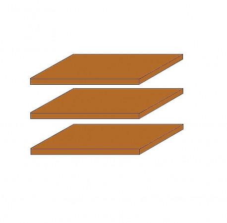 SEVILLA 3x schmale Fachböden für 4-türigen Schrank Kiefer Honig lackiert