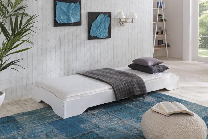 sylt stapelbett 90x200 g stebett kiefer massiv weiss kaufen m bel shop empinio24. Black Bedroom Furniture Sets. Home Design Ideas