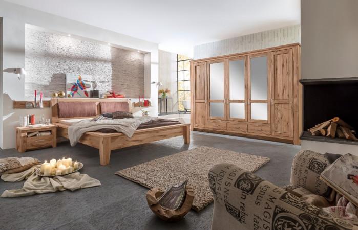 TORONTO Schlafzimmer-Set Schrank 5-trg Bett 160x200 Asteiche ...