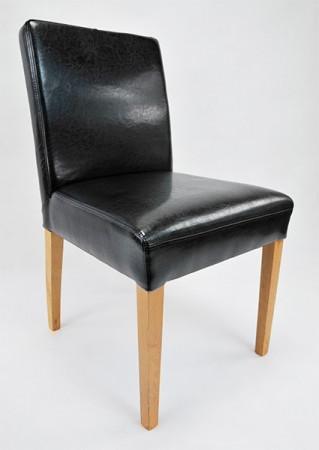 Esszimmerstuhl aus Leder Beine aus Buche oder Eiche Farben wählbar ALFO