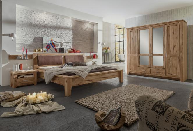 TORONTO Schlafzimmer-Set Schrank 4-trg Bett 200x200 Asteiche kaufen ...