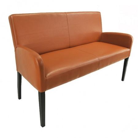 Sitzbank aus Kunstleder 183 cm Beine aus Buche oder Eiche Farben wählbar ALFO