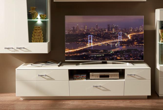 Alibaba Tv Lowboard 200 Cm 1 Trg Weiss Hochglanz Kaufen Mobel Shop