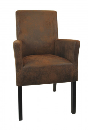 Armlehnstuhl aus Stoff Beine aus Buche oder Eiche Farben wählbar ANATOl SMALL