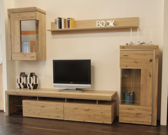 Basel Wohnwand 115 Asteiche Teilmassiv Kaufen Möbel Shop Empinio24