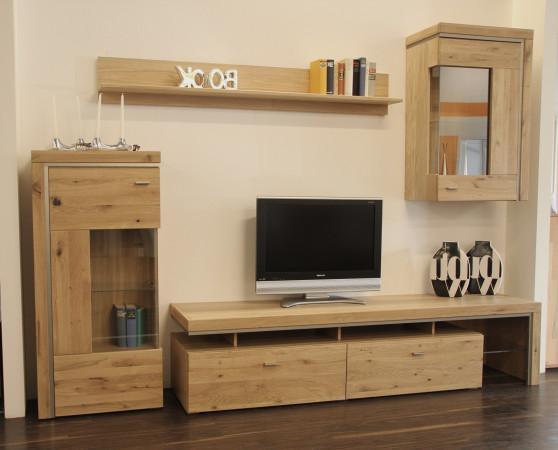 Basel Wohnwand 15 Asteiche Teilmassiv Kaufen Möbel Shop Empinio24