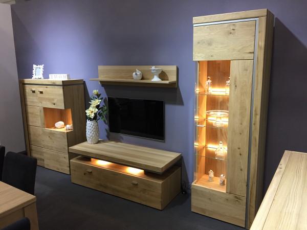 Basel Wohnwand 117 Asteiche Teilmassiv Kaufen Möbel Shop Empinio24