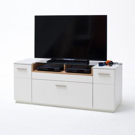 CESINA von MCA TV-Lowboard 150 cm 2-trg 1-Sk weiß matt & Asteiche ...