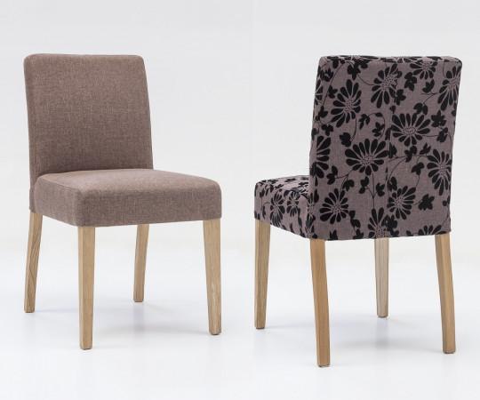 ALFO Stuhl Polsterstuhl Stuhl Stoff / Textil Beine aus Buche oder Eiche