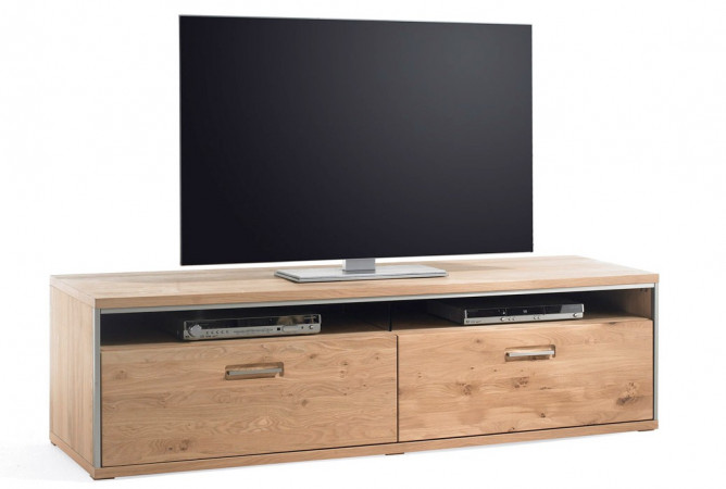 ESPERO von MCA TV- Lowboard breit Höhe 51 cm Asteiche BIANCO