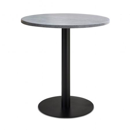 nizza gastro esstisch rund 80 cm beton optik kaufen. Black Bedroom Furniture Sets. Home Design Ideas