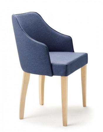 Armlehnstuhl aus Stoff mit Holzgestell Farbe wählbar EVA
