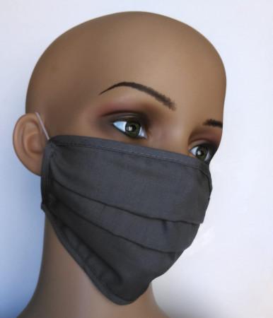 wiederverwendbare Gesichtsmasken aus Baumwolle grau