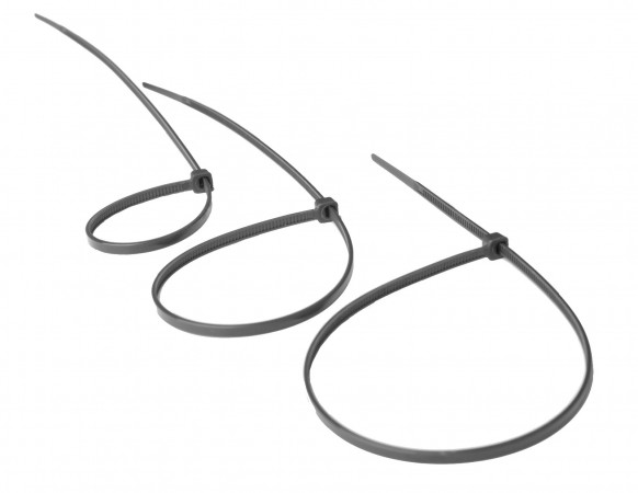 Kabelbinder 20cm grau Inhalt 100 Stück