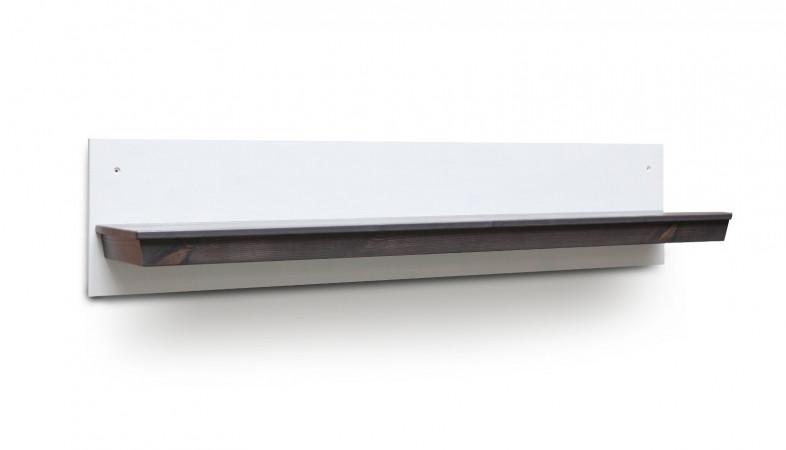 LAVENTE Wandboard 125 cm Kiefer teilmassiv weiß - trüffel