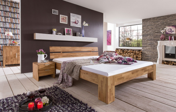 lena 2 bett wildeiche massiv ge lt kaufen m bel shop empinio24. Black Bedroom Furniture Sets. Home Design Ideas