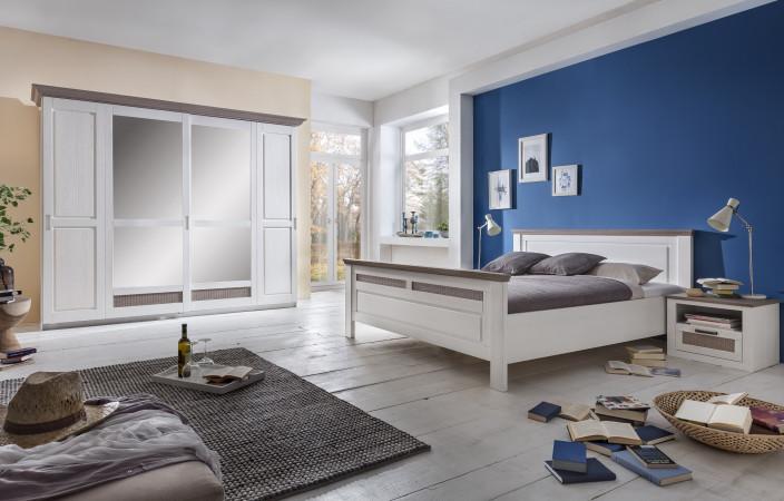 LOCARNO Schlafzimmer Set Schwebetürenschrank Bett 180x200 2x ...
