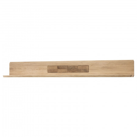 MILANO Wandboard 194 cm Eiche Bianco geölt teilmassiv