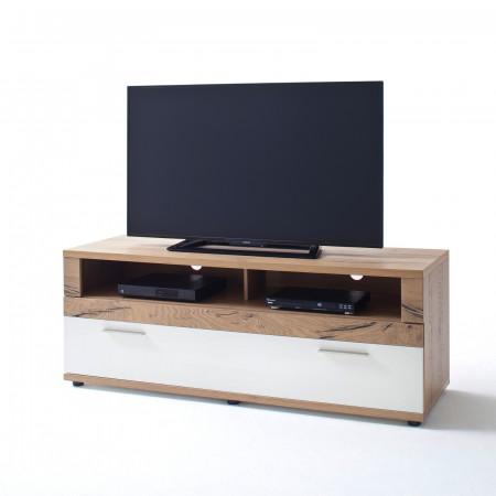 NIZZA von MCA TV-Lowboard 150 cm 1-Sk weiß matt & Crackeiche kaufen ...