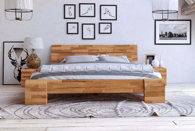 Bett in 180x200 aus massiver Kernbuche Seti High
