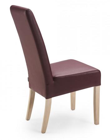 Esszimmerstuhl aus Leder Beine aus Buche oder Eiche Farben wählbar JANA