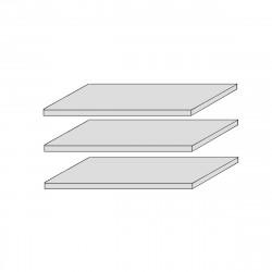 CORDOBA 3x Stück Fachböden f. Bücherregal  Kiefer massiv weiß lackiert