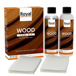 ROYAL Holzpflege Wood Care Kit Elite Polish + Clean 2x250ml (leichter glanz)