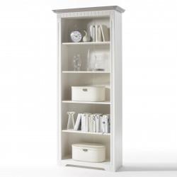 CORDOBA Regal Bücherregal Kiefer massiv weiß/taupe lackiert