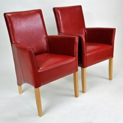 ANATOL SMALL Sessel Armlehnstuhl Kunstleder Beine aus Buche oder Eiche