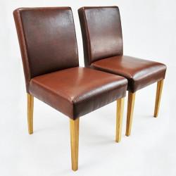 ALFO Stuhl Polsterstuhl Kunstleder Beine aus Buche oder Eiche