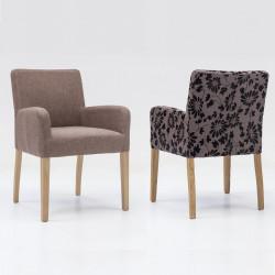 ALFO ARM Sessel Armlehnstuhl Stoff / Textil Beine aus Buche oder Eiche