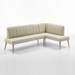 Eckbank aus Leder 265x157 cm Beine aus Buche oder Eiche Farben wählbar MALMÖ