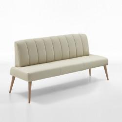 MALMÖ Sitzbank 162 cm in Leder Farbe wählbar