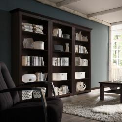 CORDOBA 3x Bücherregale Kiefer massiv kolonial lackiert