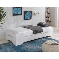 SYLT Stapelbetten 2x 100x200 Kiefer massiv weiß