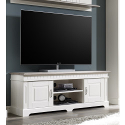 TV-Lowboard 144 cm weiß Kiefer massiv CORDOBA