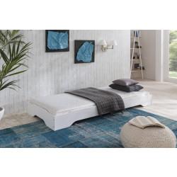 STAPELBETT Gästebett 90 oder 100 x 200 cm Kiefer massiv weiss lackiert