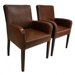 ALFO ARM Sessel Armlehnstuhl Kunstleder Beine aus Buche oder Eiche