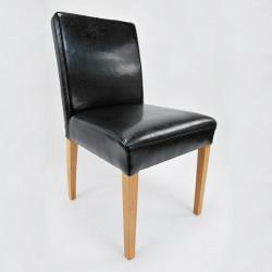 ALFO Stuhl Lederstuhl Stuhl Echtleder Beine aus Buche oder Eiche