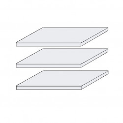 SEVILLA 3x schmale Fachböden für 4-türigen Schrank Kiefer weiß