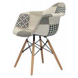 NORDISK Design Armlehnstuhl mit Patchwork Schalensitz