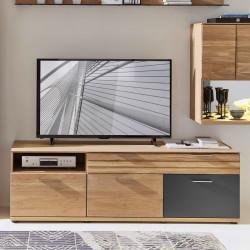 ACHAT TV-Lowboard 3-trg 1-Sk Wildeiche BIANCO teilmassiv