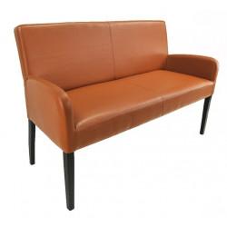 ALFO Sitzbank mit Lehne Breite 163 cm Kunstlederbezug Beine aus Buche oder Eiche wählbar